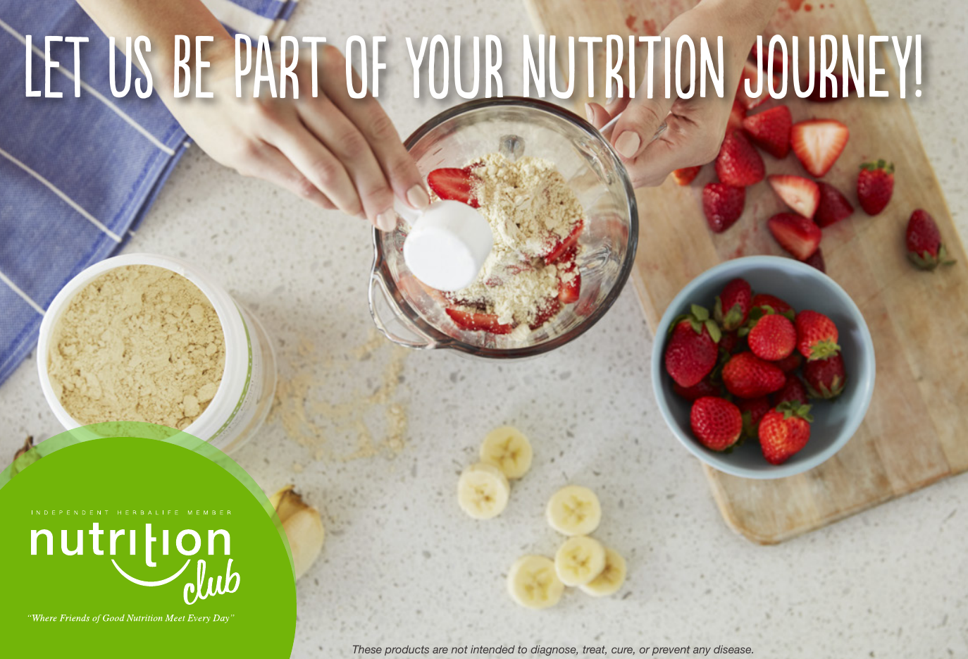 Let Us be Part of Your Nutrition Journey